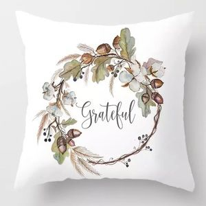 Accents - Pillow Cover Grateful Print